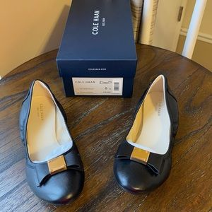 NWT Cole Haan ballet flats black leather size 8